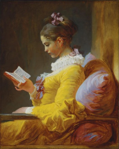 Fragonard - A Young Woman Reading- 1776